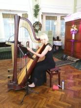 Harpist Georgia Lowe