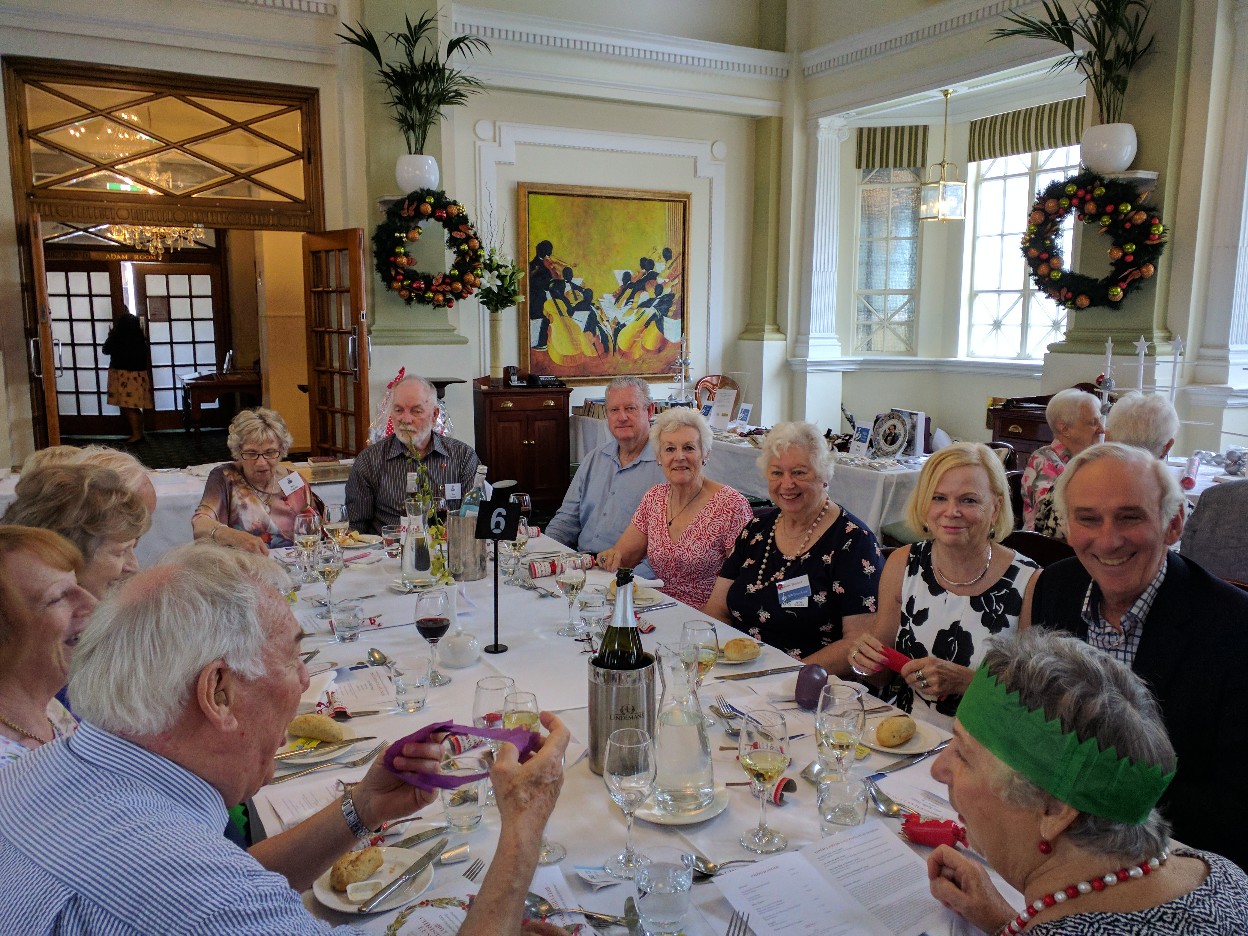 Reading Of Christmas Lunch In A Hotel Dining Room