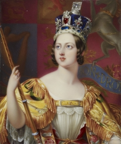 Coronation portrait of Queen Victoria by George Hayter 1838